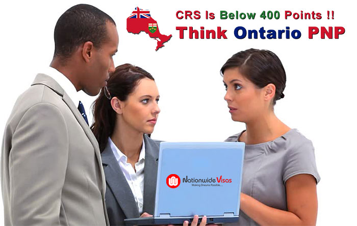 Ontario Immigration, if score below 400