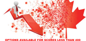 Options available for someone who scores less than 400 Comprehensive Ranking System (CRS) score points