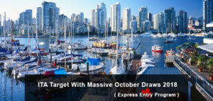 ITA Target With Massive October Draws 2018 - Express Entry Program