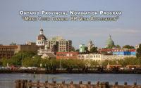 Ontario Provincial Nomination Program