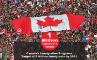 Canada Targets of 1 Million Immigrants