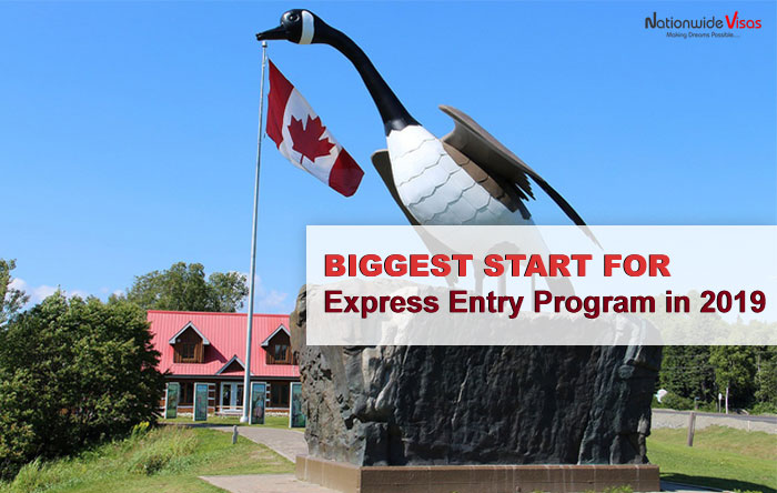Biggest Start for Express Entry Program in 2019